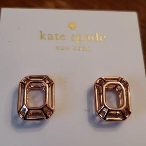 kate spade Jewelry - Kate Spade Nwt Rose Gold Freeze Frame Earrings